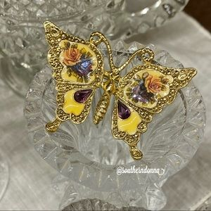 Stunning Vintage 1928 Jewelry Butterfly Brooch